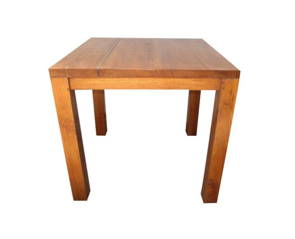 Dining table teak 80x80 wood stone for Coffee tables 80cm wide
