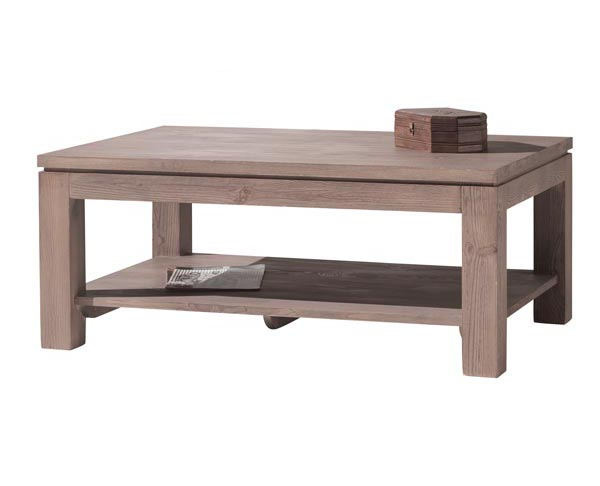 Coffee table temtab 110 wood stone for Table cuisine 70 x 110