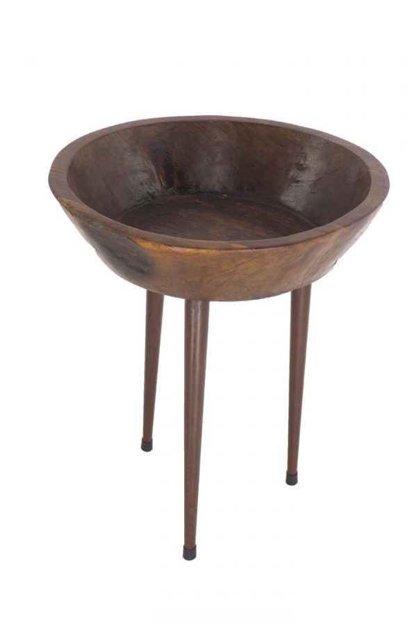 T1421 - I17 SIDE TABLE WITH 3 IRON LEGS F46x55